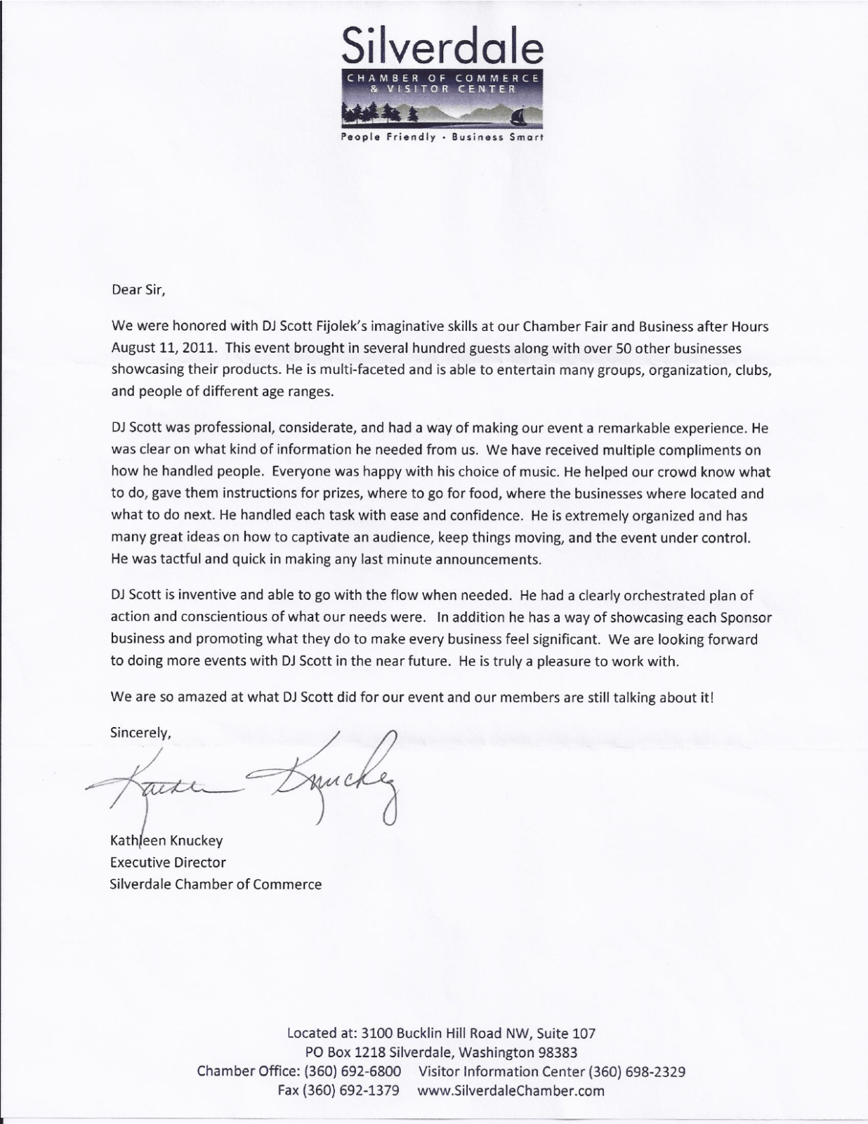 letter of recommendation from the silverdale chamber of commerce 98383 wwwsilverdalechambercom