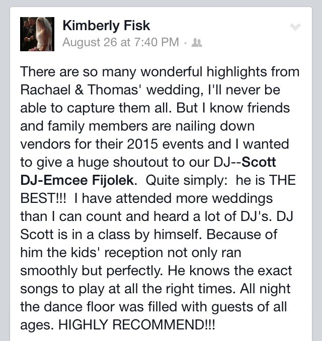 Tacoma Wedding DJ Scott Fijolek Kitsap Puget Sound Seattle