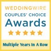 Winner of WeddingWire's Couples Choice Award